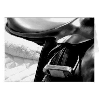 Blank Horse Saddle Greeting Card