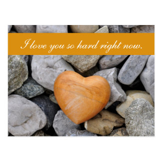 """Blank - """"I love you so hard right now"""" Rock Heart Postcard"""