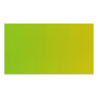 Blank in front green yellow business card