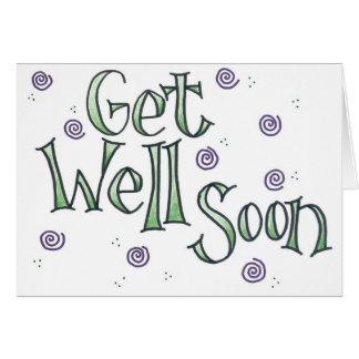 Blank inside Get Well Soon card