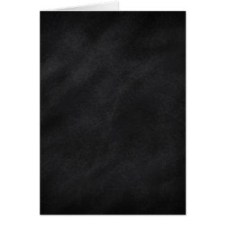 Blank Inside Retro Black Chalkboard Texture Card