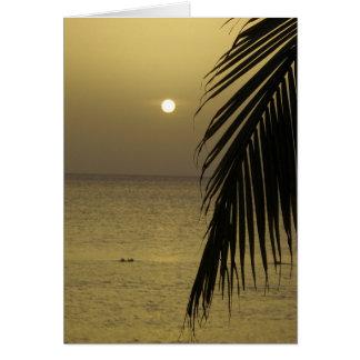 Blank Inside Sunset Card