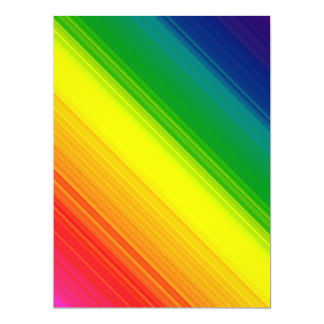 Blank Invitation, Bright Gay Pride Rainbow colors Card