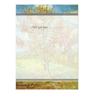 blank invitation, Pink Peach Tree in Blossom Invitations