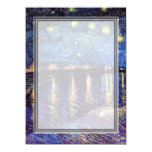 "blank invitation, van Gogh starry night 5.5"" X 7.5"" Invitation Card"