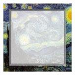 blank invitation, van Gogh starry night Custom Invitations