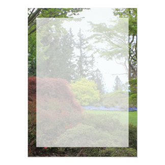 "Blank invitation with beautiful garden photo 5.5"" x 7.5"" invitation card"