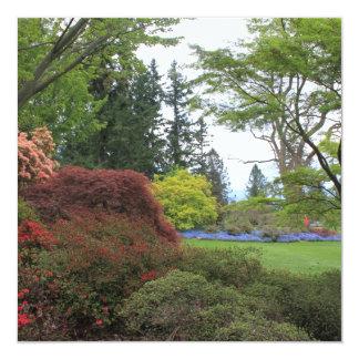 Blank invitation with very beautiful garden photo custom announcements