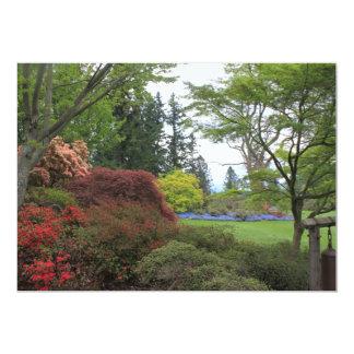 Blank invitation with very beautiful garden photo personalized invitation