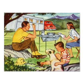 Blank Invitations Camping Tin Can Vintage Campers