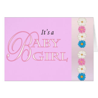Blank | It's a Baby Girl! Card