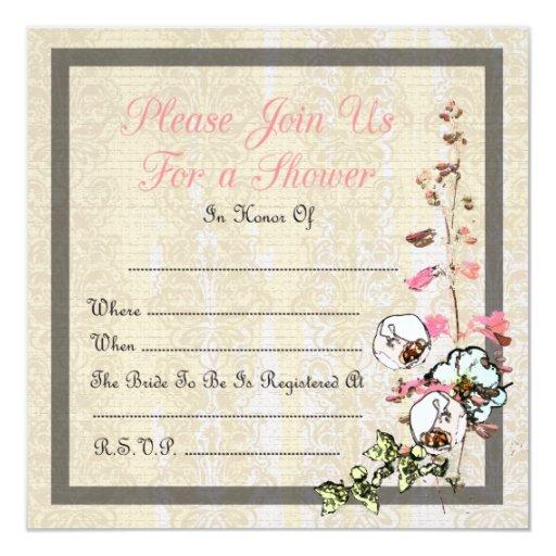 Blank Japanese Tea Garden Wedding or Shower - Card