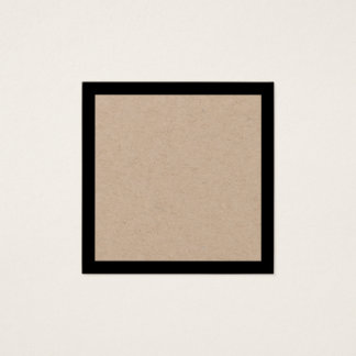 Blank Kraft Paper with Bold Black Border Square Business Card