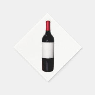 Blank Label Wine Bottle Napkins