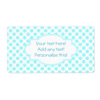 Blank Labels Personalized Labels Blue Polka Dots
