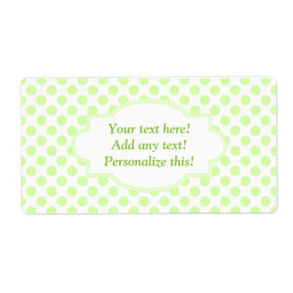 Blank Labels Personalized Labels Green Polka Dots