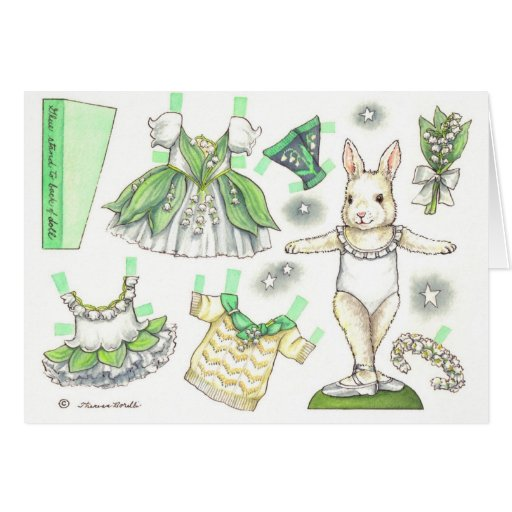 Blank Lily of the Valley Paper Doll Card