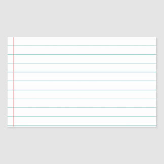 Blank Lined Paper Rectangular Sticker