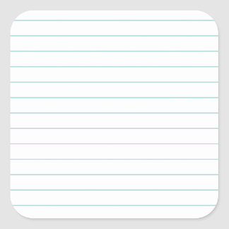 Blank Lined Paper Square Sticker  Lined Blank Paper