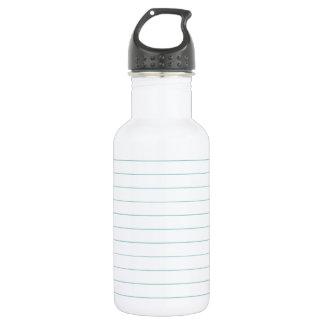 Blank Lined Paper Water Bottle
