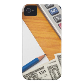 Blank list with dollar bills and calculator iPhone 4 Case-Mate cases