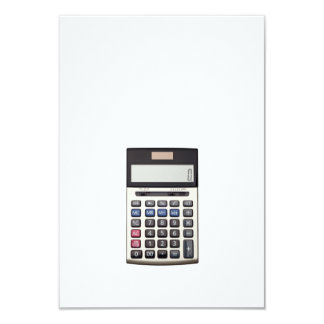 Blank list with Euro and calculator Card