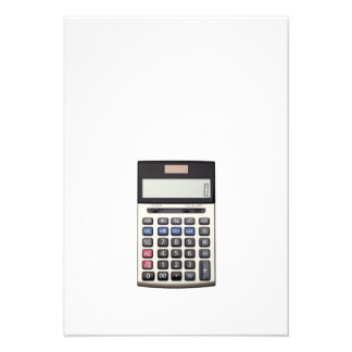 Blank list with Euro and calculator Announcement
