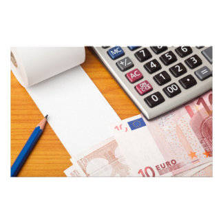 Blank list with Euro and calculator Customized Stationery