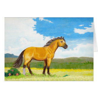 Blank Little Horse on the Prairie Notecard Stationery Note Card