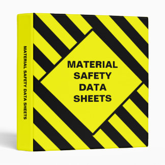 Blank Material Safety Data Sheets Binder