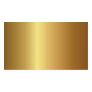 Blank Metallic Business Cards