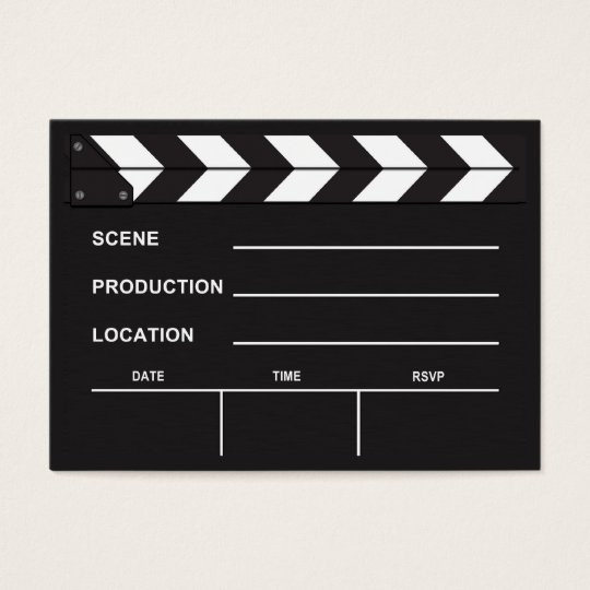 movie clapboard business cards & templates | zazzle, Powerpoint templates