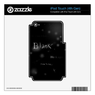 blank mp3 player skins skins for iPod touch 4G