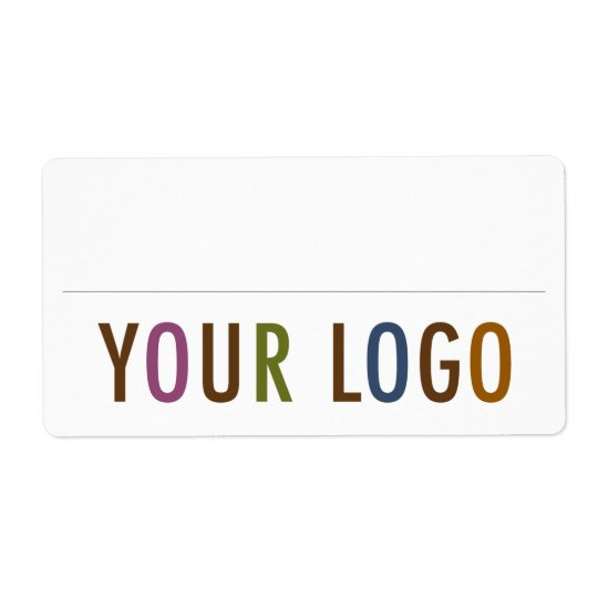 blank name badge stickers custom logo employee zazzle com