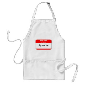 Blank name tag template adult apron