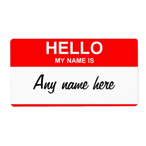 Blank Name Tag Template Label Zazzle