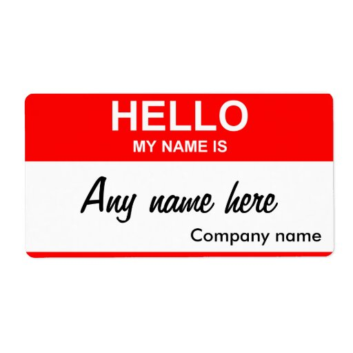 Blank name tag template shipping label | Zazzle