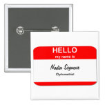 Blank Name Tag Templates 2 Inch Square Button