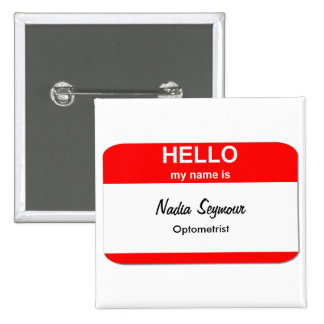 Blank Name Tag Templates Pinback Button