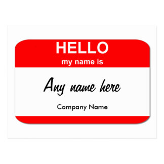 Nametag postcards zazzle blank name tag templates postcard accmission Gallery