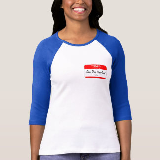 Blank Name Tag Templates T-Shirt