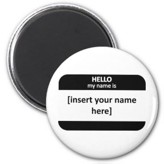 Blank Nametag 2 Inch Round Magnet