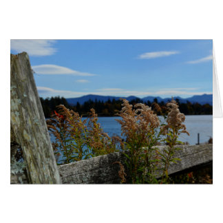 Blank Note Card Adirondack Lake Placid, NY