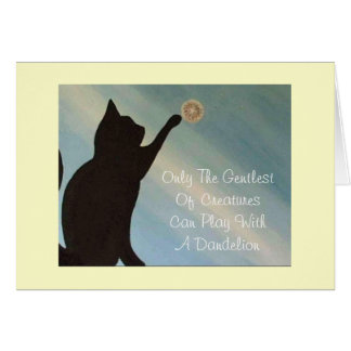 Blank Note Card - Cat -Kinky Friedman quote inside