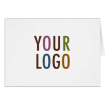 Blank Note Card Custom Business Logo Promotional