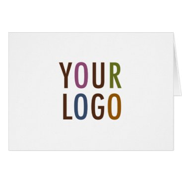 Professional Business Blank Note Card Custom Business Logo Promotional