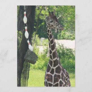 Blank Note Card - Customizable - Giraffe