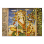 Blank Note Card -- Deruta Tile Lady