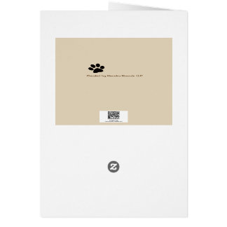 Blank Note Card Dog saying Hello