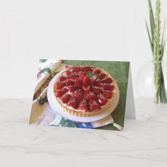 Blank Note Card -Easy-Breezy Strawberry Cream Tart card